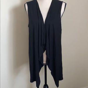 J.Jill Black Vest Sleeveless Cardigan Size M